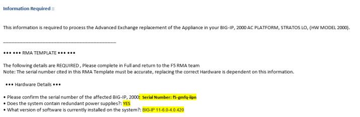 F5 Device RMA Process – SanchitGurukul